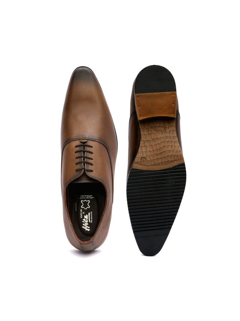Men Office Tan Leather Shoes
