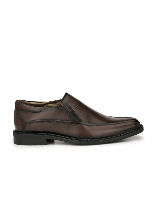 Men Formal Brown Slip-on shoes