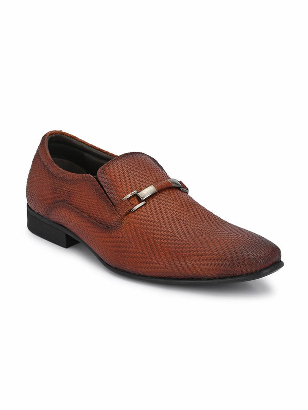 4707 Tan Party Wear Leather Shoes