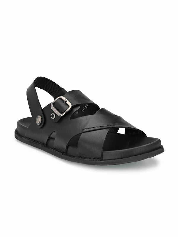 Sofital - 5002 Black Leather Sandals