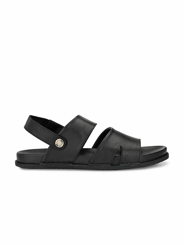 Sofital - 5003 Black Leather Sandals