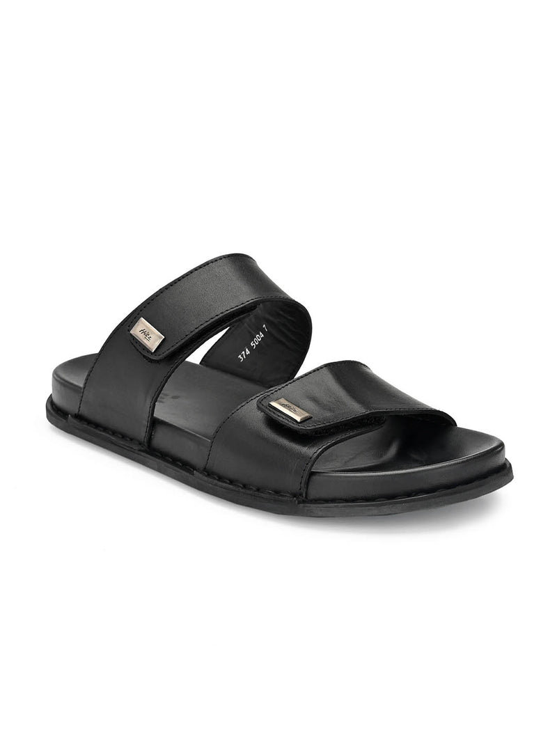 Sofital - 5004 Black Leather Slippers