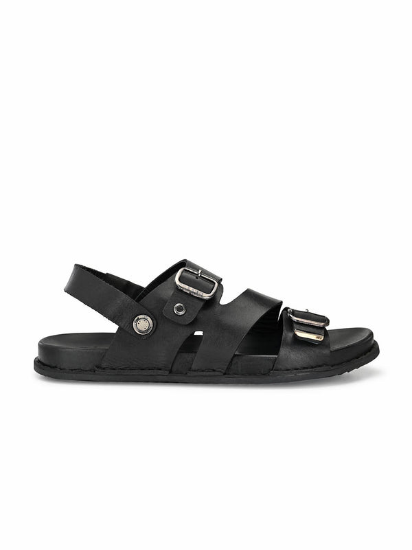 Sofital - 5006 Black Leather Sandals