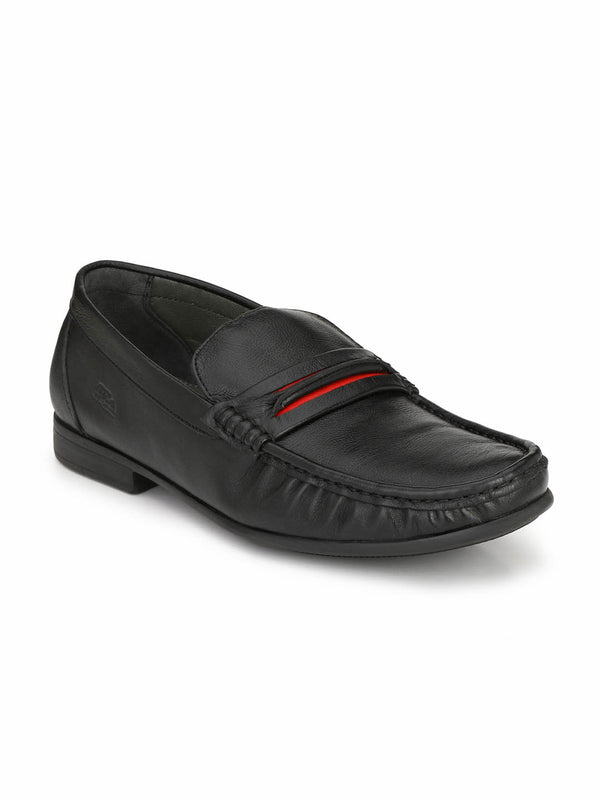 Kartis - 5306 Black + Red Comfort Leather Shoes
