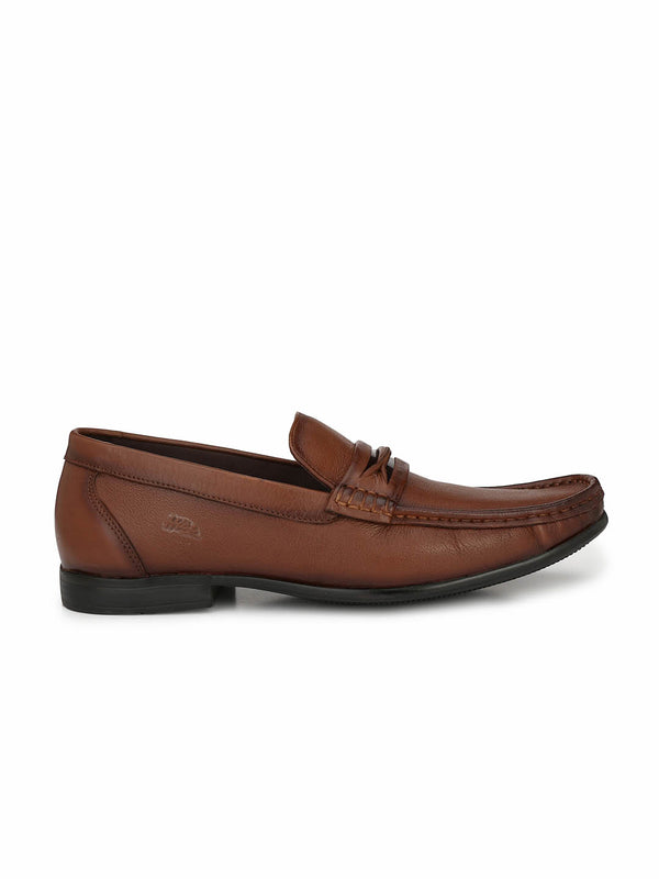 Men Tan Comfort Leather Shoes
