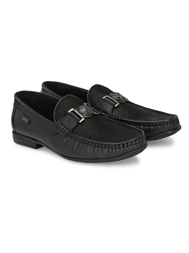 Hitz Black MOCCASSINS PARTY WEAR