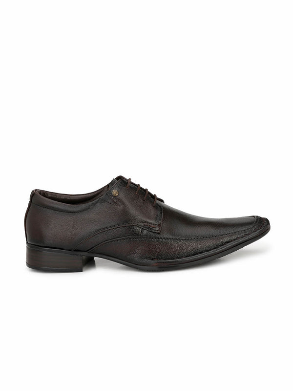 Men Totone Leather Formal Derby Shoes