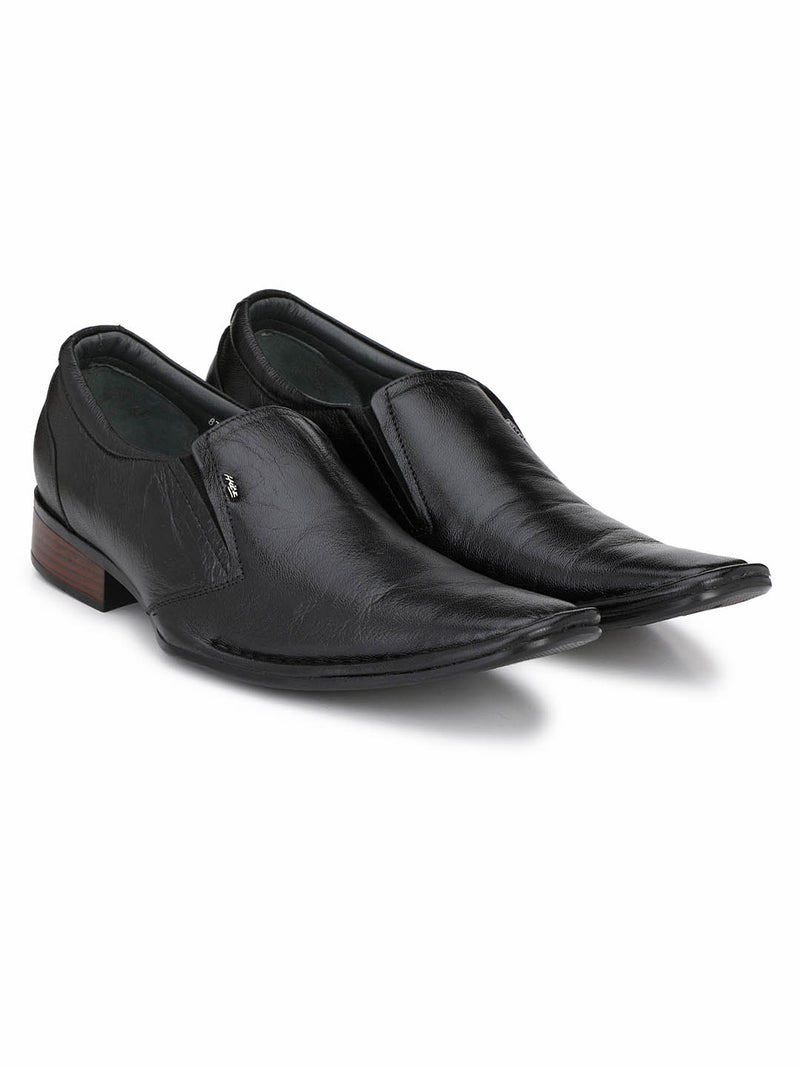 Ice - 5611 Black Formal Leather Shoes