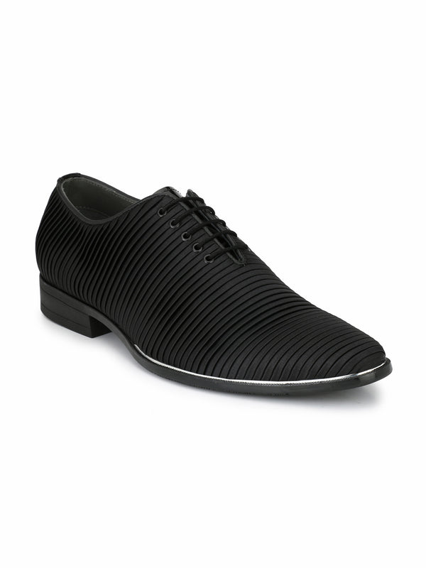 Hitz Black Lace-up Luxure Shoes