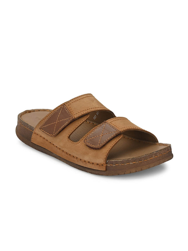Harry - 601 Tan Leather Slippers