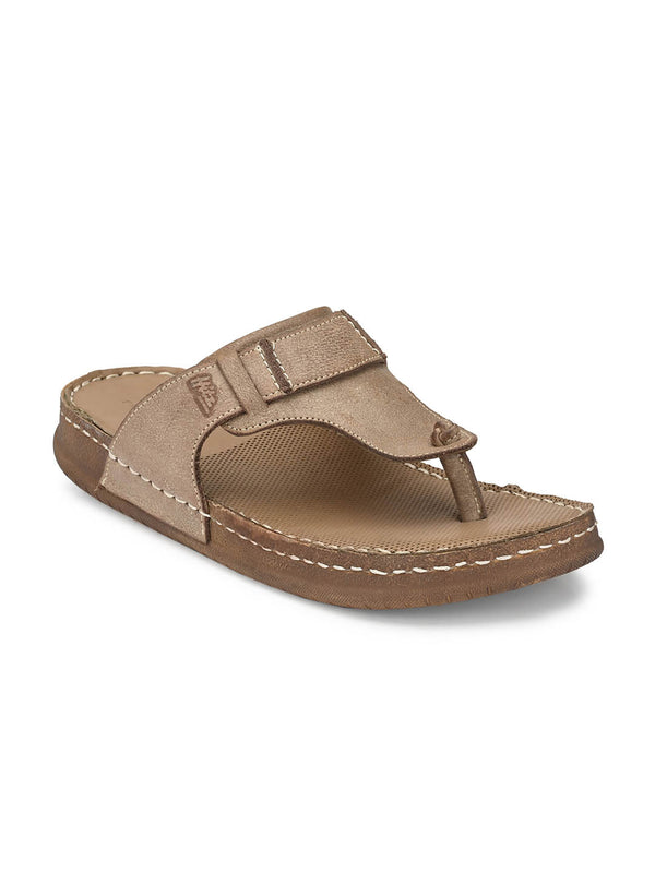 Harry - 603 Brown Leather Slippers