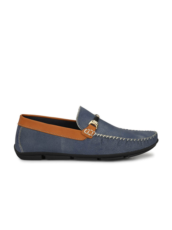 Loafer - 6101 Blue + Tan Leather Shoes
