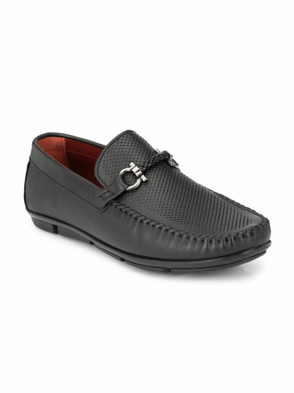 Loafer - 6107 Black Leather Shoes
