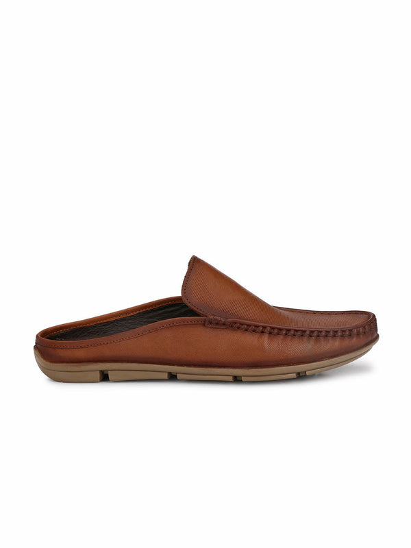 Men Tan Leather Half shoes