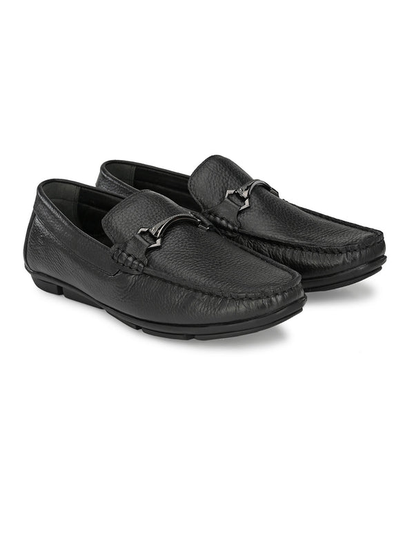 Hitz Black loafers casual shoes