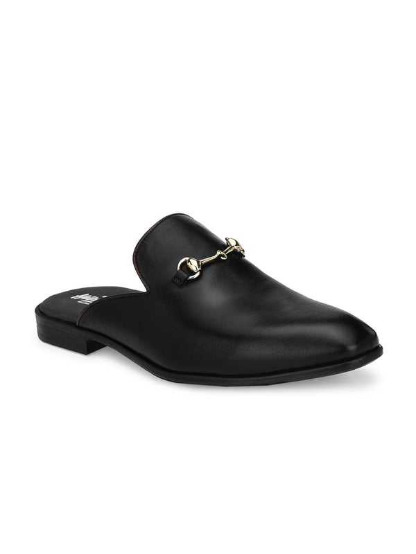 Hitz Helios Black Loafers For Men