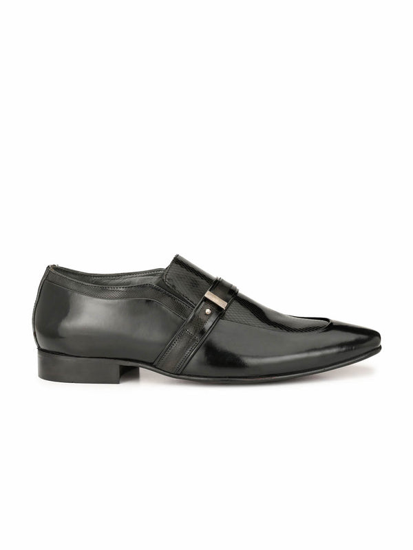Paulo - 6406 Black Party Wear Leather Shoes