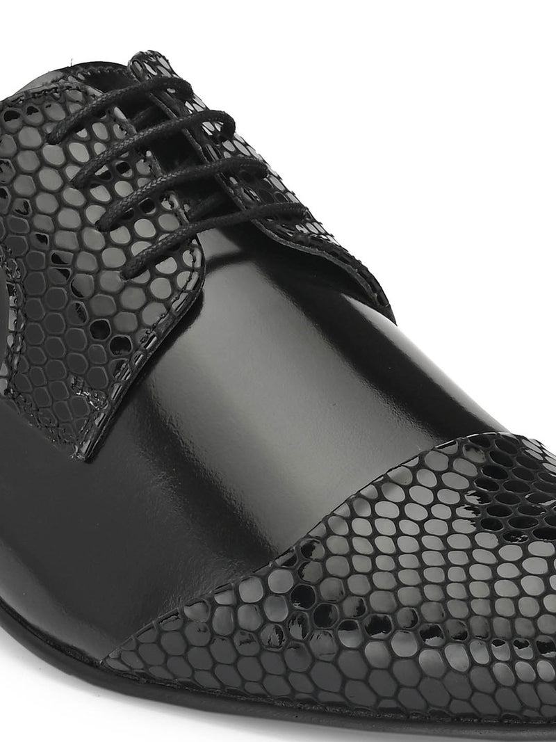 Paulo - 6414 Black Party Wear Leather Shoes