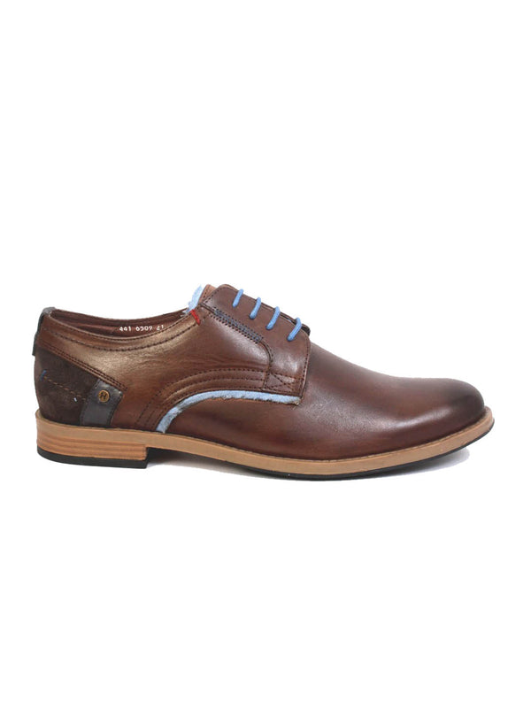 Men Brown Leather Casual Derby Shoes