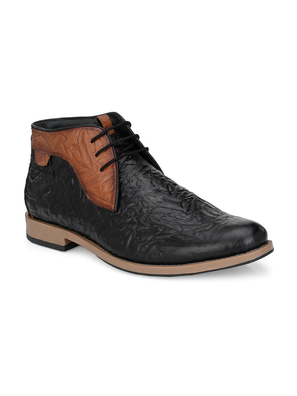 Hitz Helios Blk+Tan Boot For Men