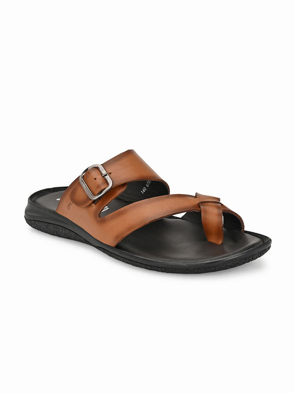 Hitz Tan Slippers For Men