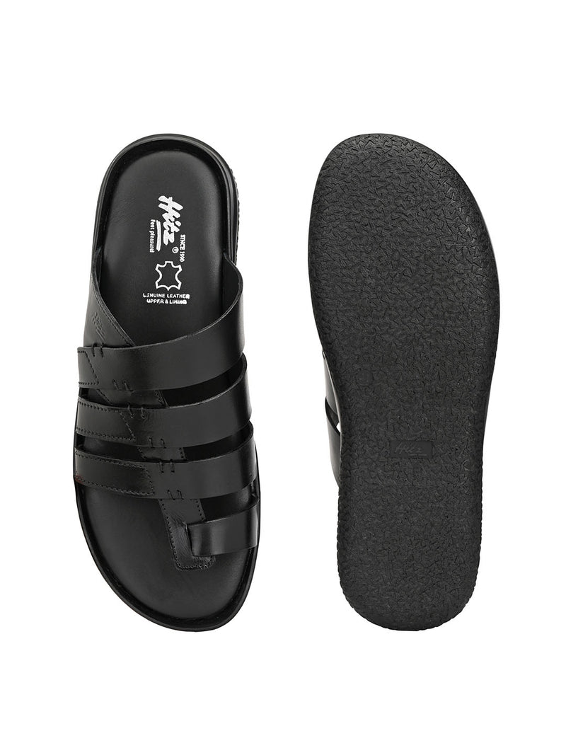 Hitz Adreno Black Sandals For Men