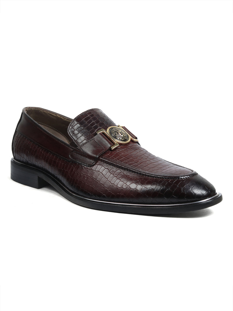 Hitz Cherry Leather Slip-On Party Shoes for Men