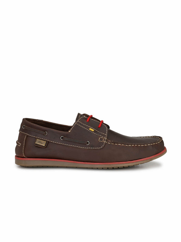 Jive - 701 Brown Leather Boat Shoes