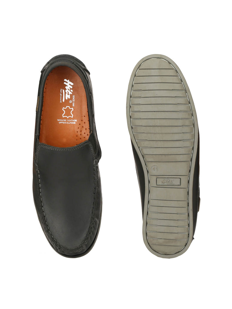 Jive - 702 Black Leather Boat Shoes