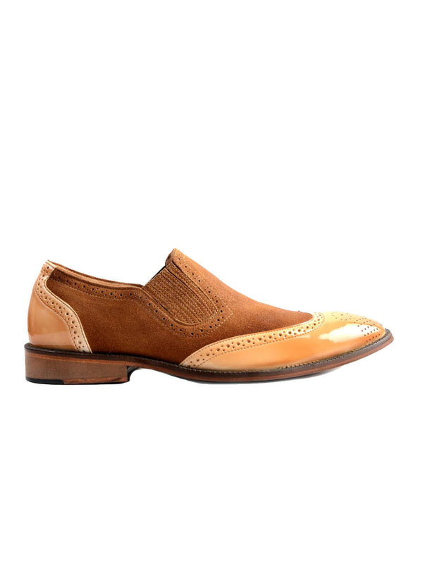 7109 Tan Party Wear Leather Shoes