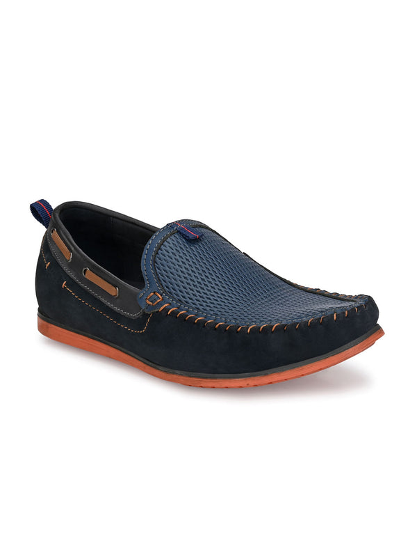 Hitz Vasovo Blue Loafers For Men