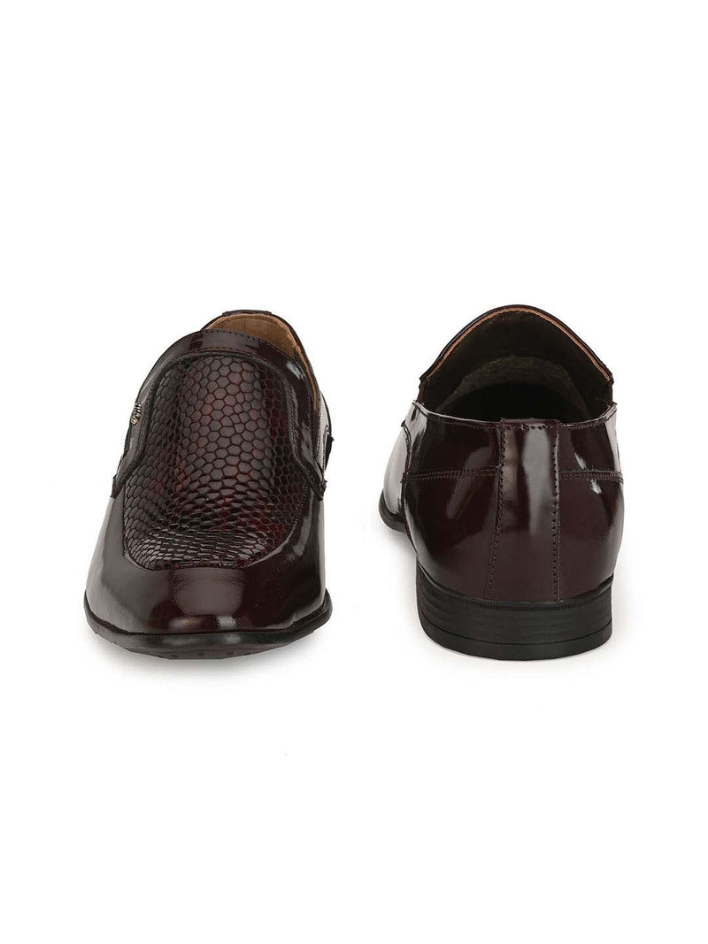 Men Cherry Leather Slip-on Shoes