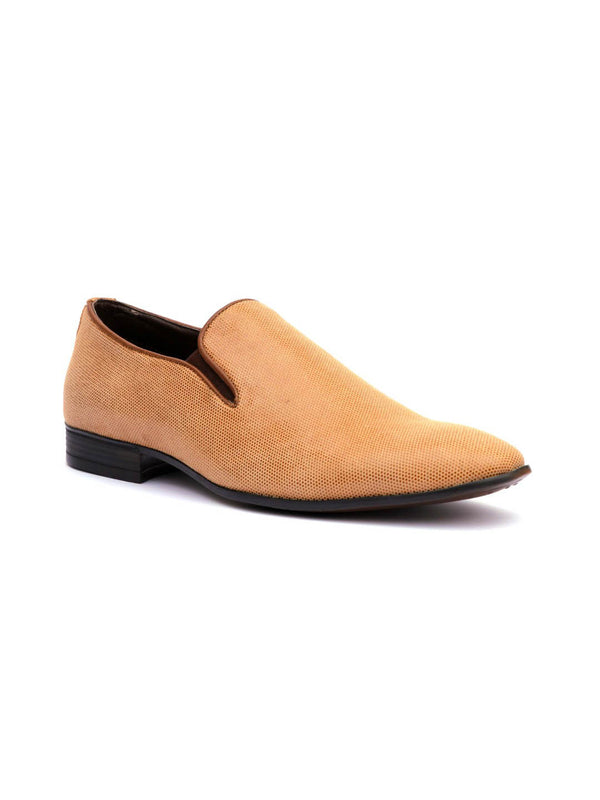 7207 Tan Party Wear Leather Shoes