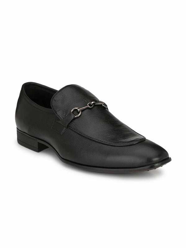 Porto - 7213 Black Leather Shoes