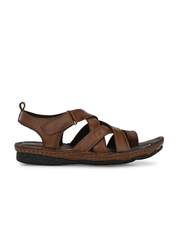 Hitz Smart casual Tan Sandals For Men