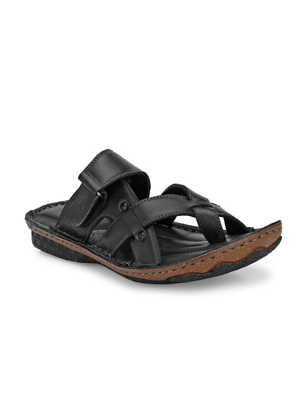 Hitz Matteo Black Sandals For Men