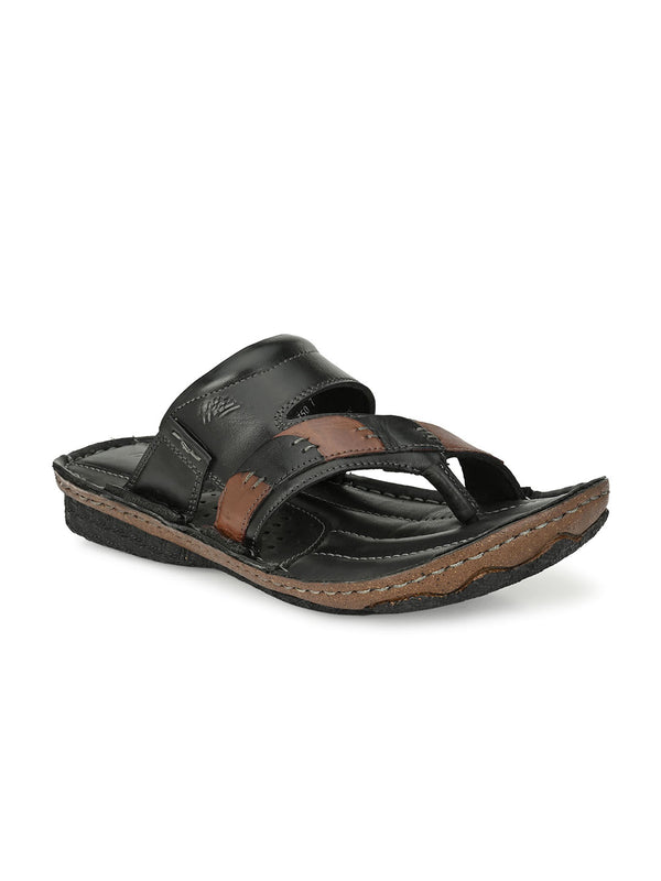 HITZ Fyodor Black+Brown Sandals For Men