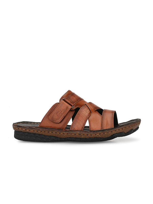 Hitz Lorenzo Tan Sandals For Men