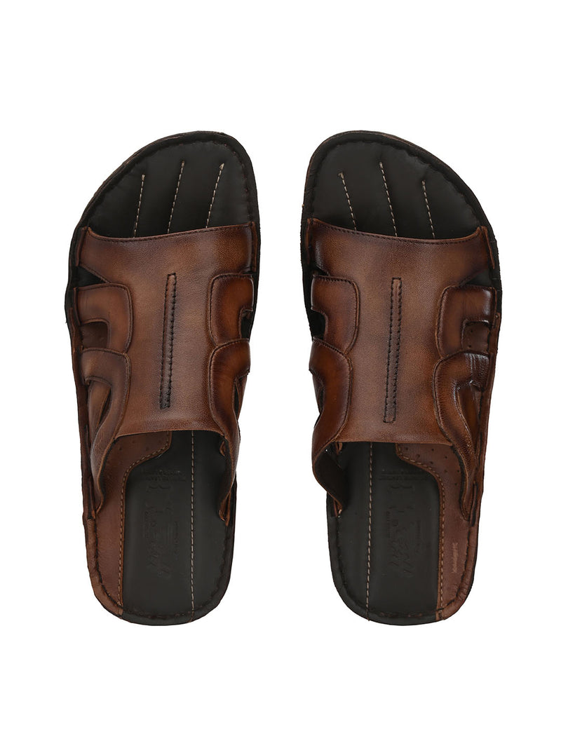 Hitz Luca Brown Sandals For Men