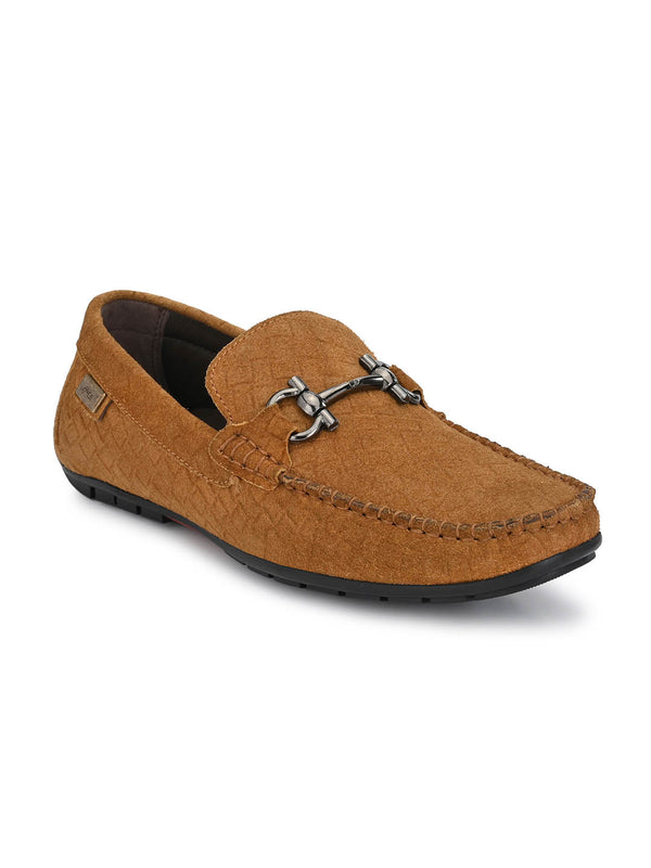 7601 Tan Leather Loafers
