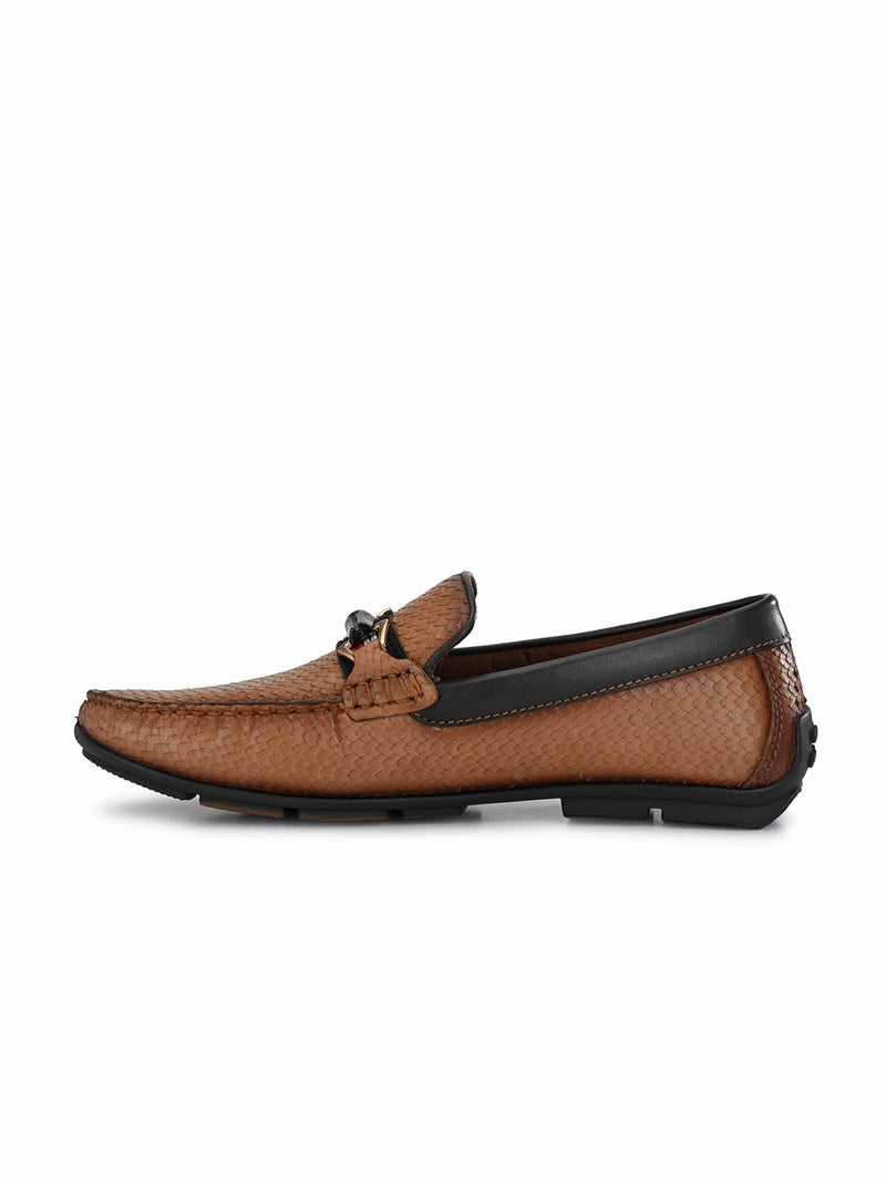 7602 Tan Leather Loafers