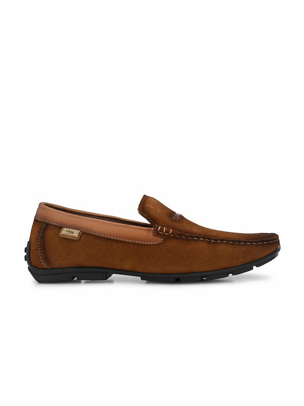 7603 Tan Leather Loafers