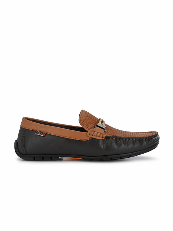 7604 Blue + Tan Leather Loafers