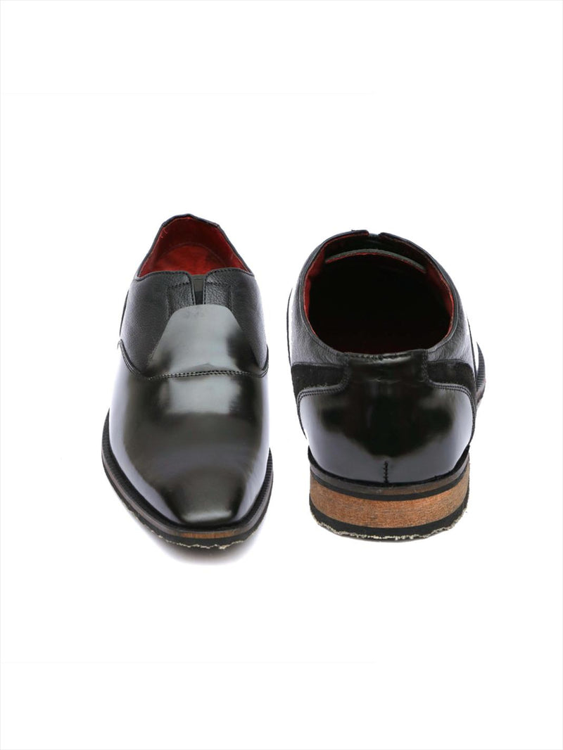 Men Luxury Design Black Leather Shoes
