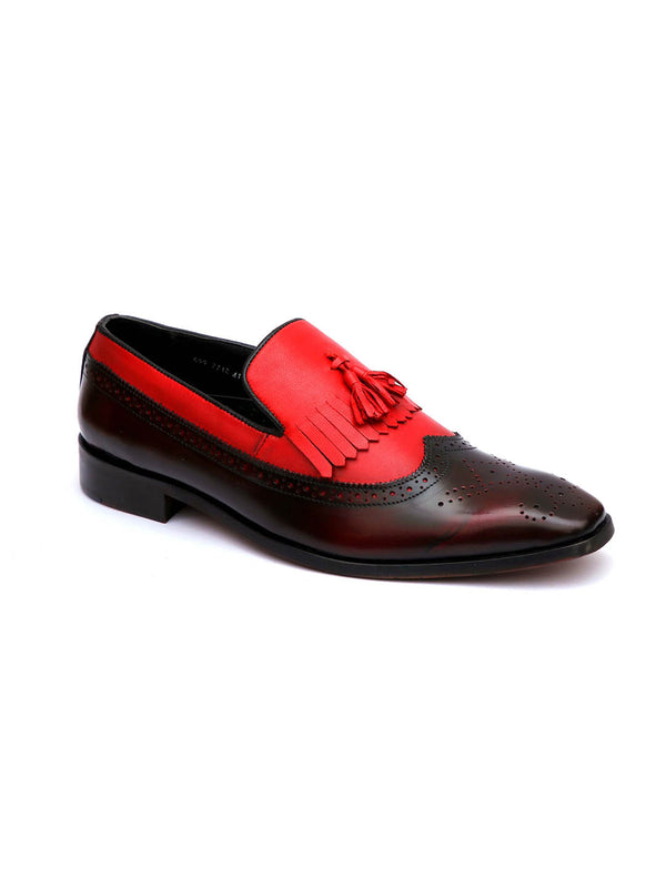 Start - 7712 Cherry + Red Leather Shoes