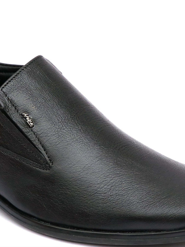 Men Black Leather Formal Slip-on Office Shoes