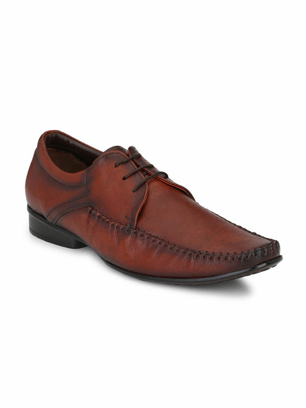 Men Totone Leather Formal Derby Office Shoes