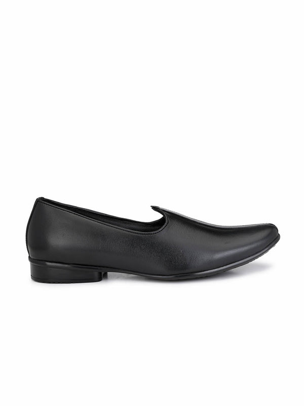 Hitz Men Black Ethnic Footwear