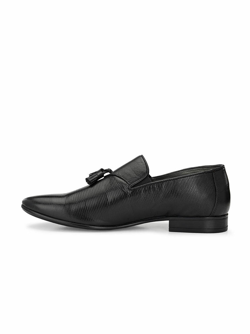Pistol - 7902 Black Leather Shoes