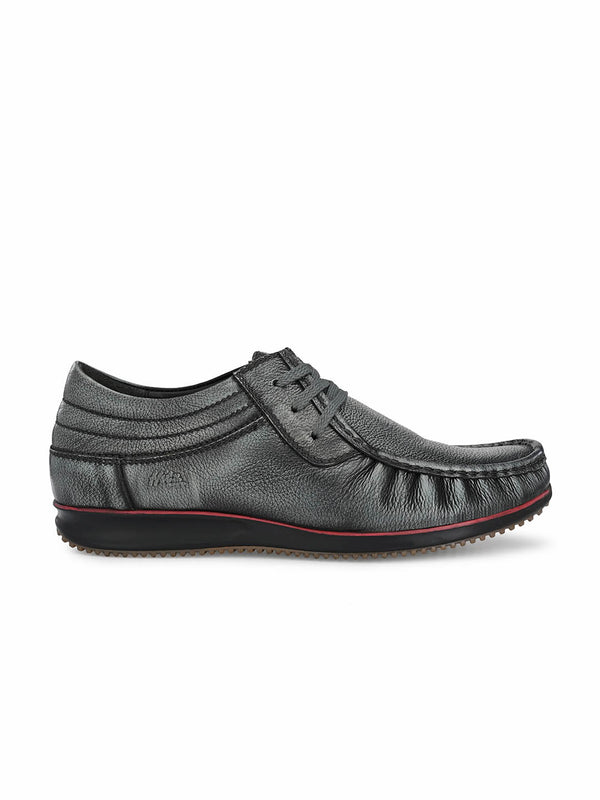 Ecco - 801 Grey Casual Leather Shoes